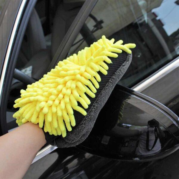 auto pesukinnas kollane